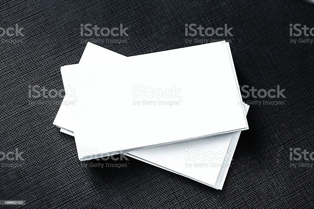 Business Card Blank On Black Table stock photo 499692452 | iStock