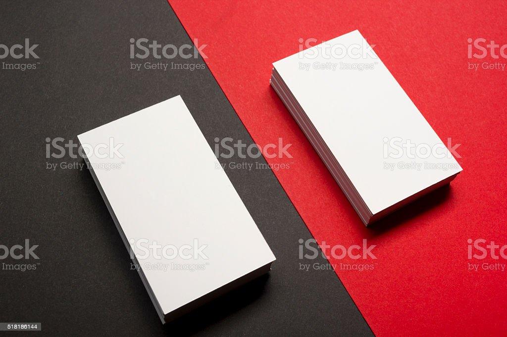 Visitenkarten Blanko über Farbenfrohe Abstrakter Hintergrund Geschäftsdrucksachenlogo Stockfoto Und Mehr Bilder Von Berufliche Beschäftigung