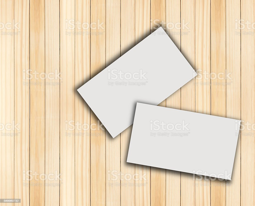 Business Card Blank With Wood Stock Photo   Download Image Now