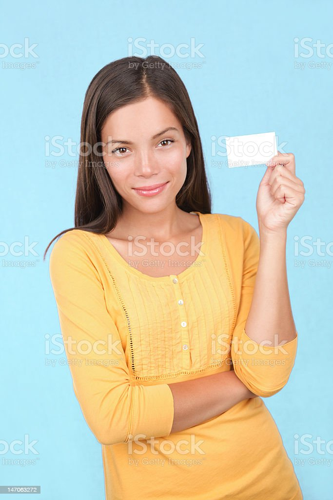 Business card casual woman royalty-free stock photo