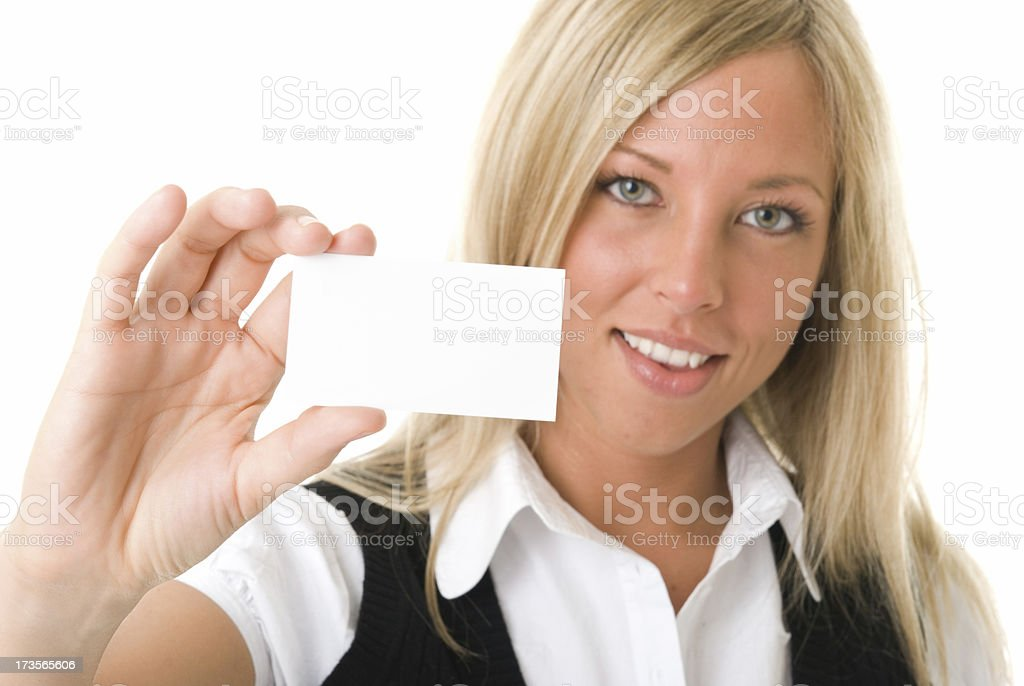 Business Card Copy Space royalty-free stock photo