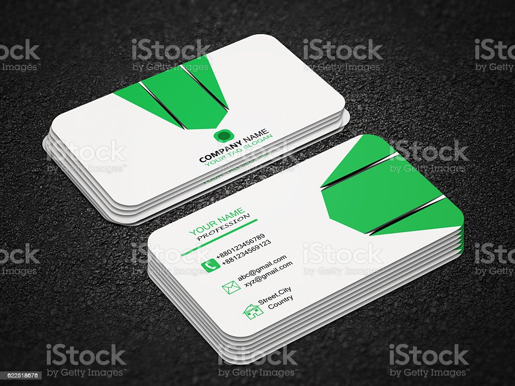 Business card design stock photo