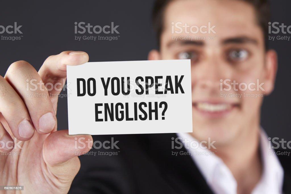 Visitenkarte Sprechen Sie Englisch Stockfoto Und Mehr Bilder