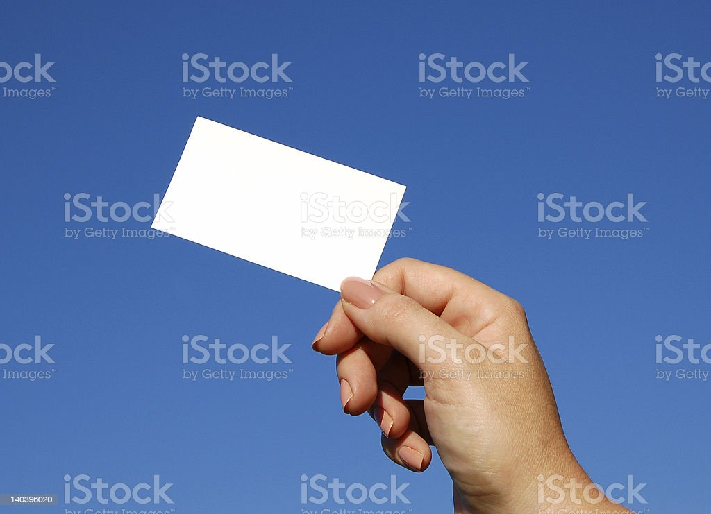 Business card for text royalty-free stock photo