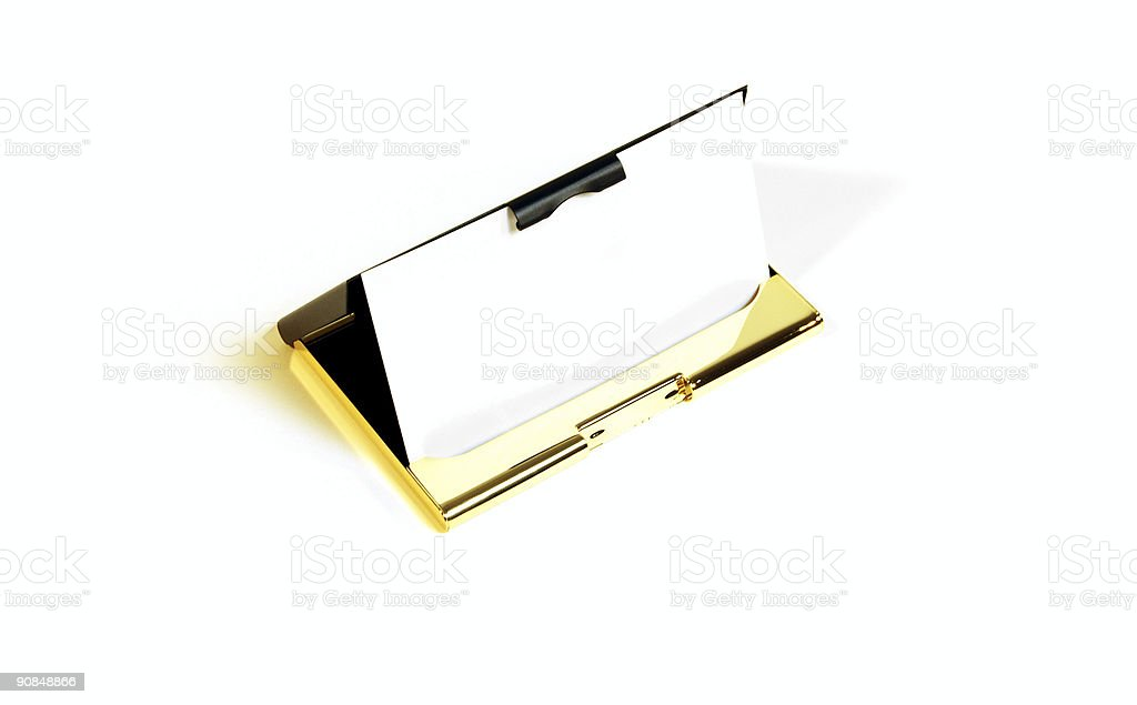 Business Card Holder royalty-free stock photo