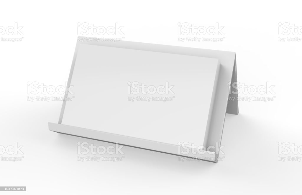 Business card holder with blank business cards stock photo
