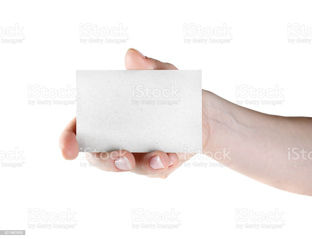 Business card in hand stock photo istock business card in hand royalty free stock photo magicingreecefo Choice Image