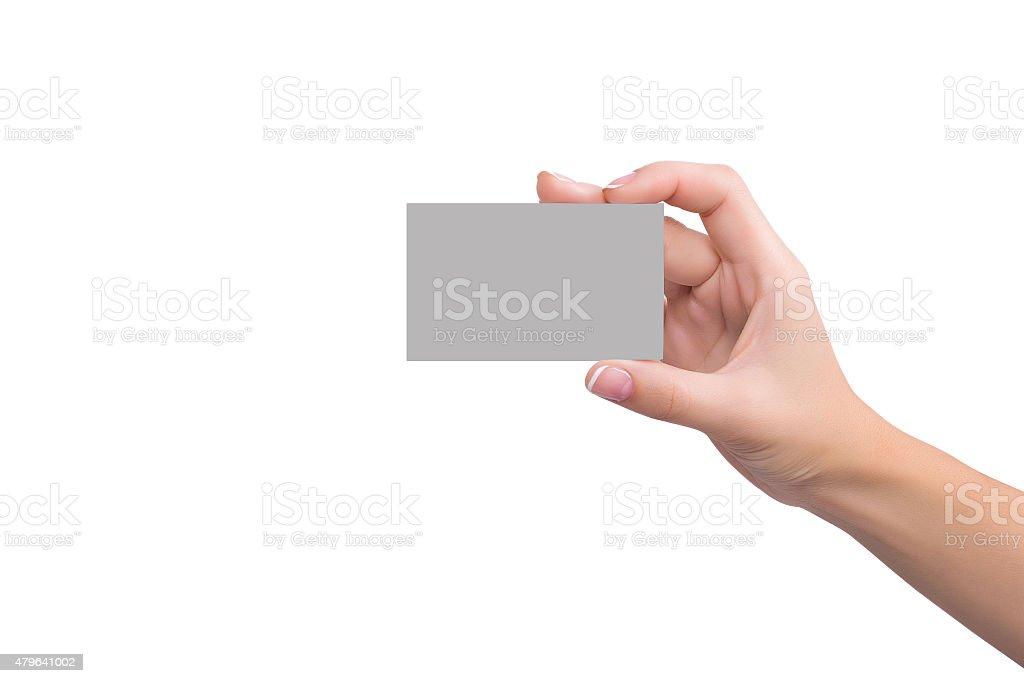 Visitenkarte in die hand für Damen – Foto
