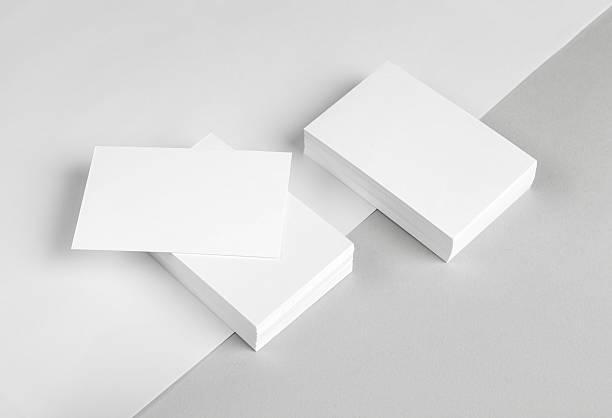 carte de papier à en-tête & - business card mock up photos et images de collection