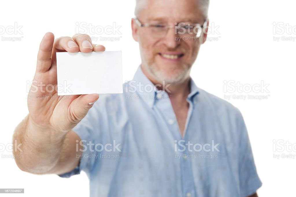 Business card man royalty-free stock photo