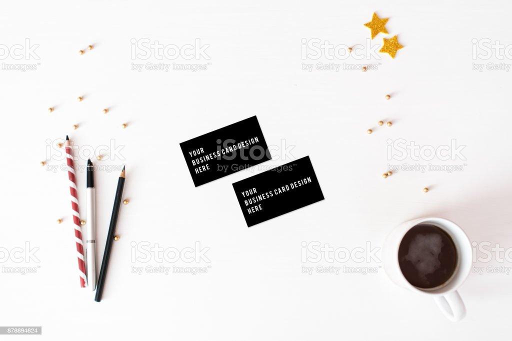 Carte De Visite Maquette Arriere Plan Composition Noel Fond Decran