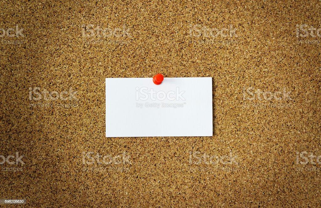 Carte De Visite Sur Une Planche Lige Mocap Pour Un Logo Photo Libre