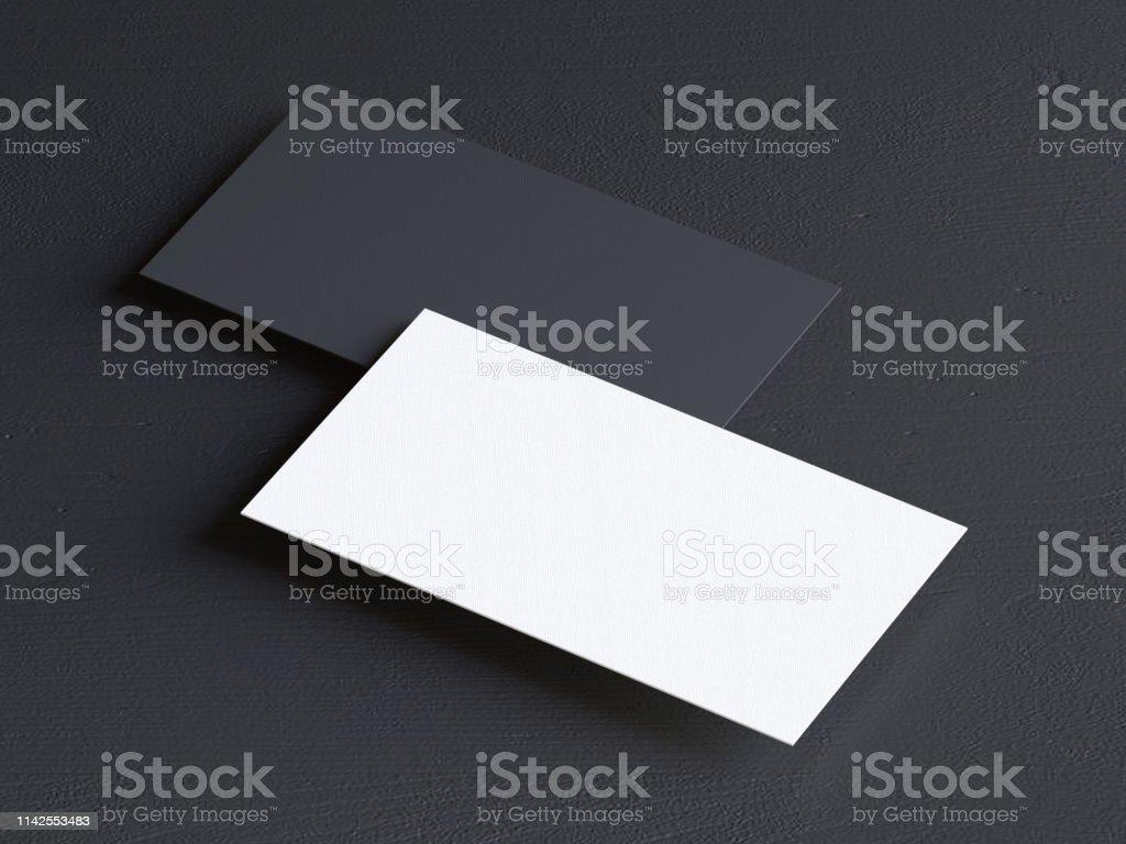 Visitenkarte Auf Schwarzem Hintergrund Stockfoto Und Mehr