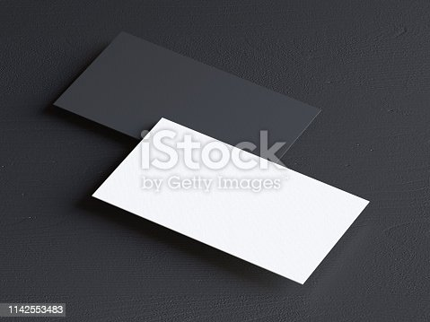 1144802544 istock photo Business card on black background 1142553483