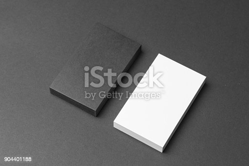 1144802544 istock photo Business card on black background 904401188