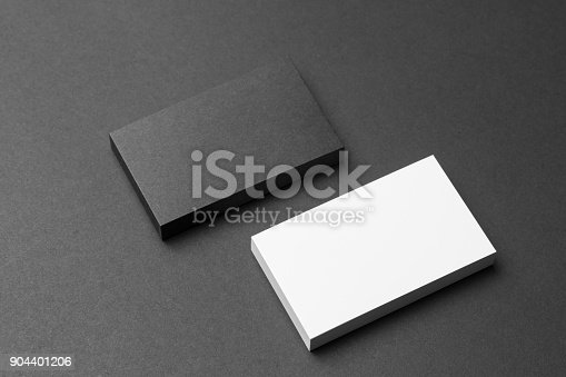 1144802544 istock photo Business card on black background 904401206