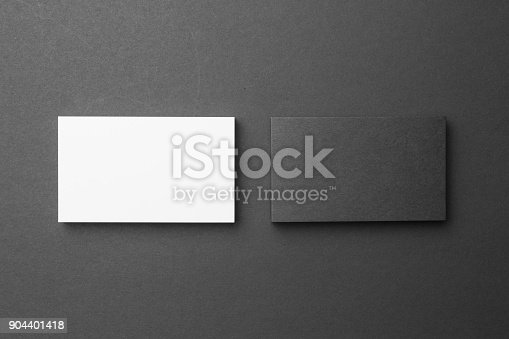 1144802544 istock photo Business card on black background 904401418