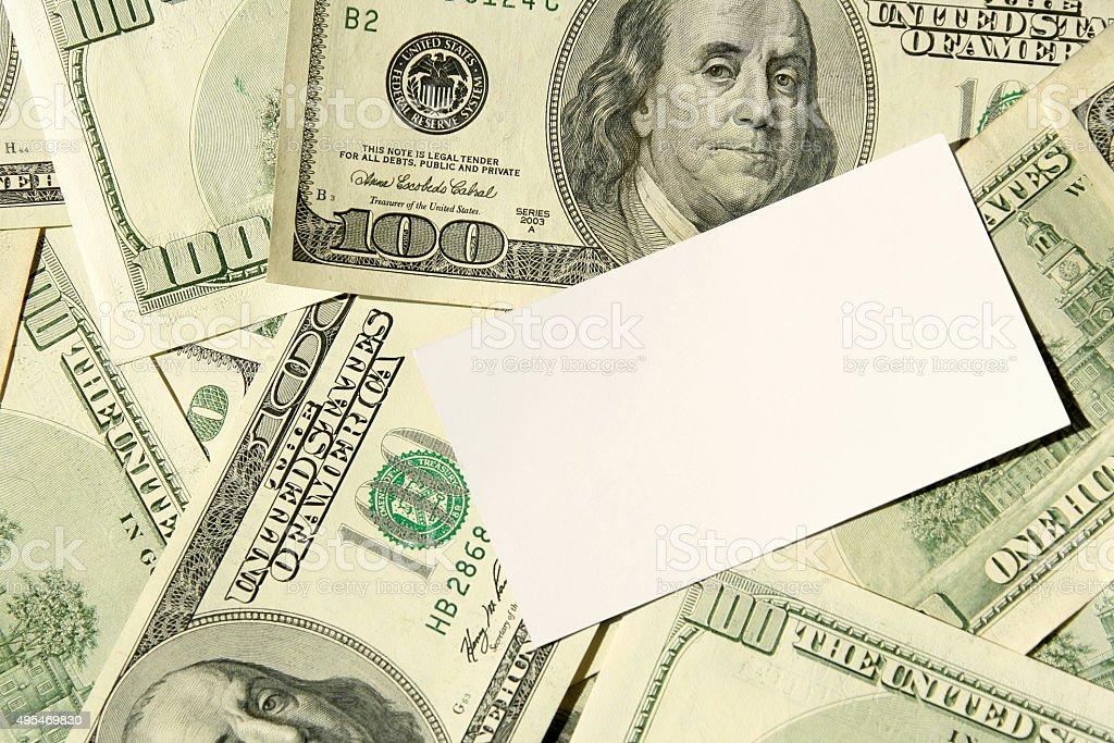 Business Card On Dollars stock photo 495469830 | iStock