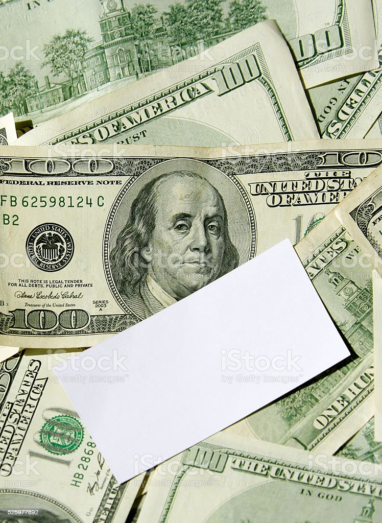 Business Card On Dollars Stock Photo & More Pictures of ...