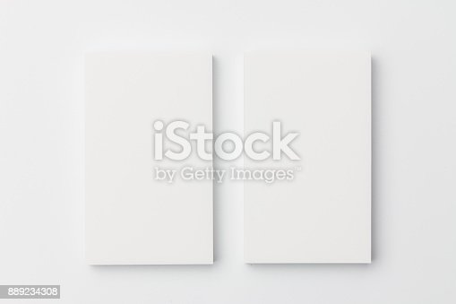 1144802544 istock photo Business card on white background 889234308