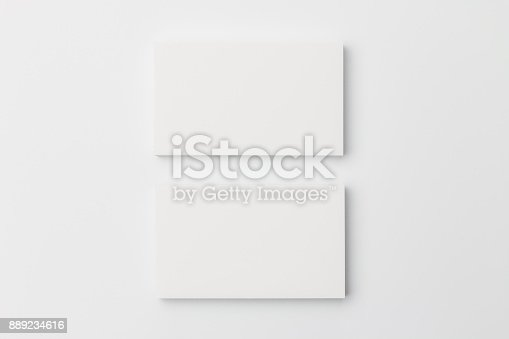 1144802544 istock photo Business card on white background 889234616