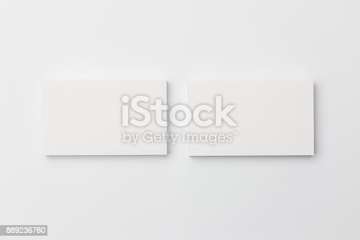 1144802544 istock photo Business card on white background 889236760