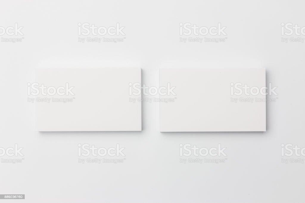 Visitenkarte auf weißem Hintergrund – Foto