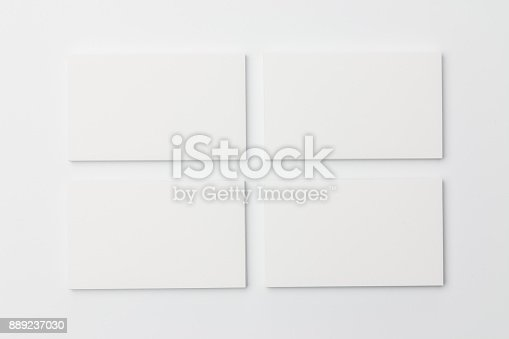 1144802544 istock photo Business card on white background 889237030