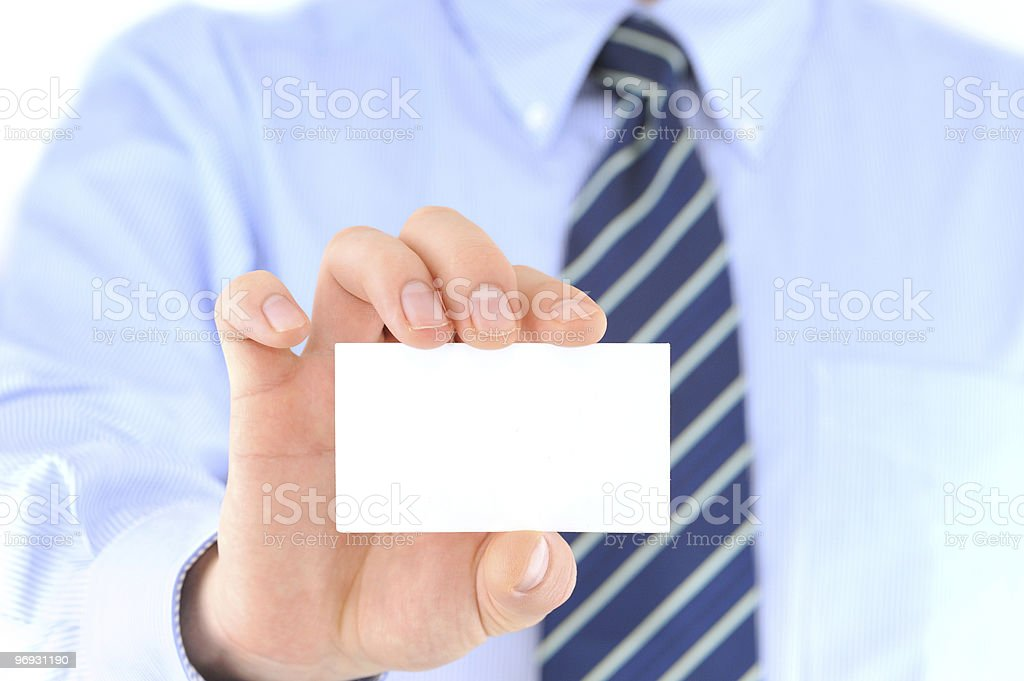 Business card presentation royalty-free stock photo