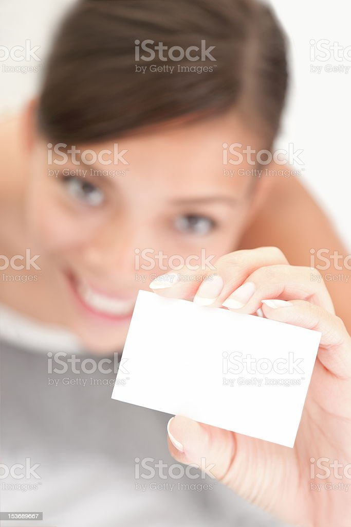 Business card sign person stock photo