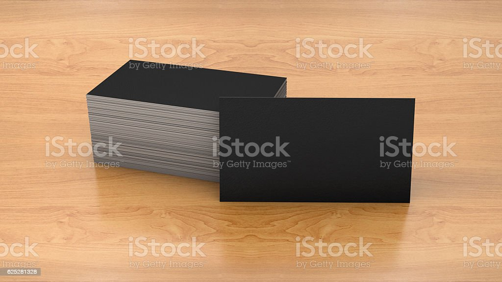 Business card template on wooden background. – Foto