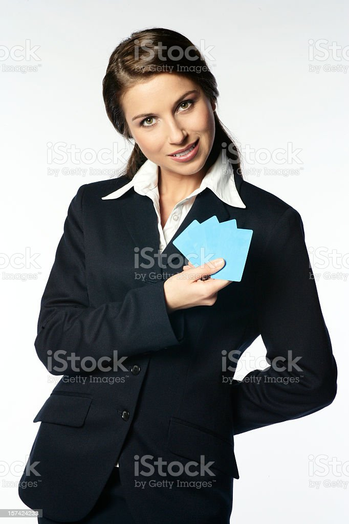 Business Card Woman royalty-free stock photo