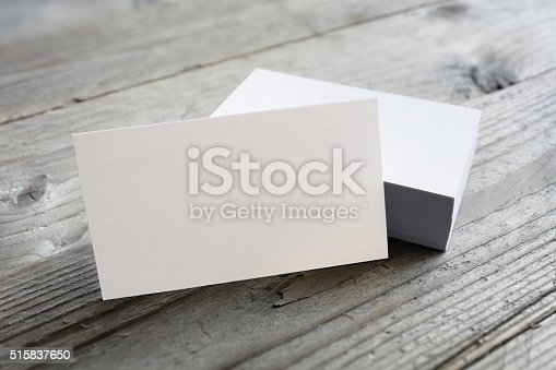 istock Business cards blank mockup 515837650