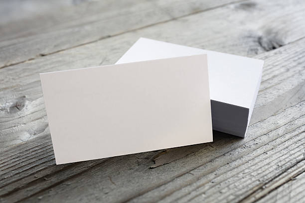 business cards blank mockup - business card stock photos and pictures