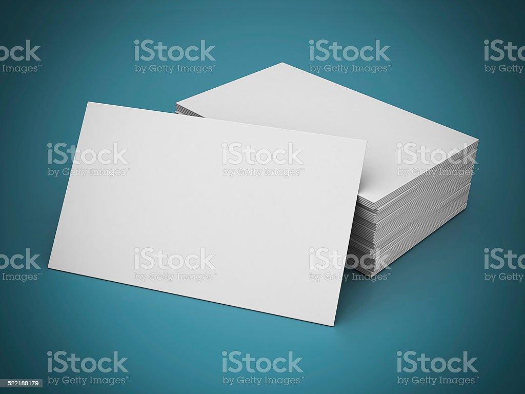 Visitenkarten Blanko – Foto