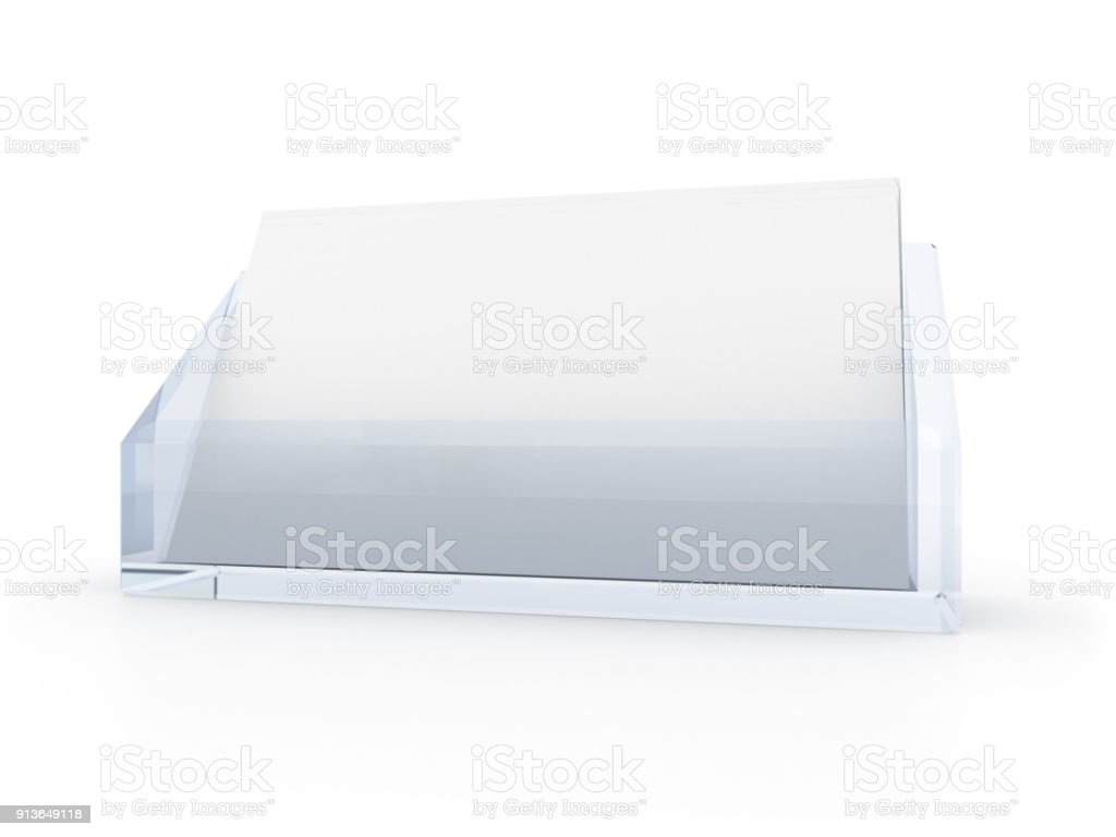 Business Cards In Holder Stock Photo More Pictures Of Blank Istock
