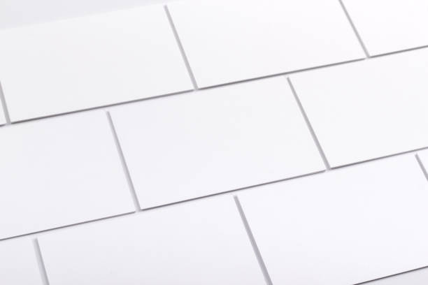 business cards isolated on white - business card stock photos and pictures