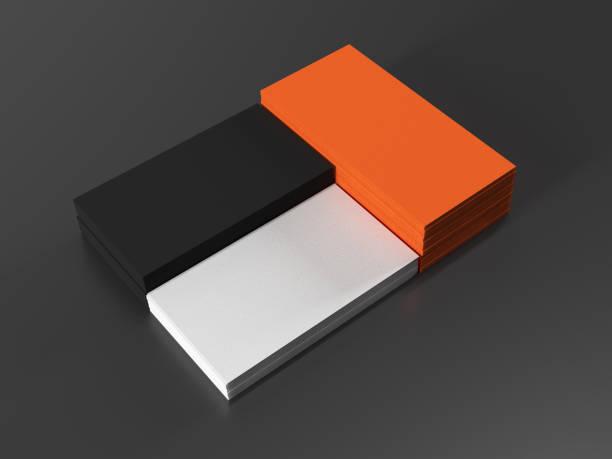 cartes de visite sur fond noir - business card mock up photos et images de collection