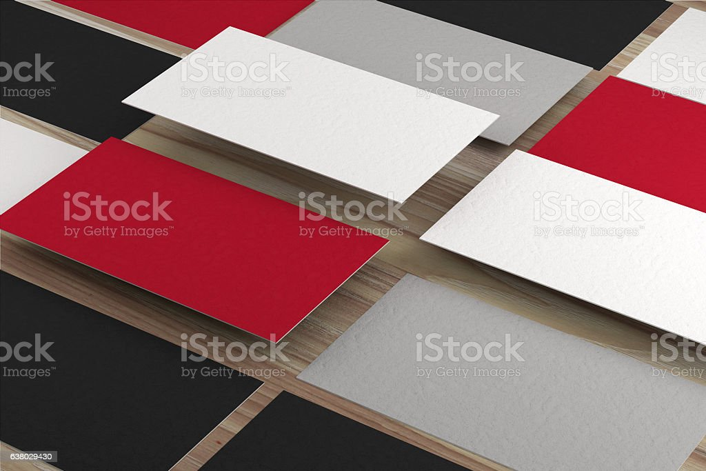 Visitenkarten Auf Holz Stockfoto Und Mehr Bilder Von