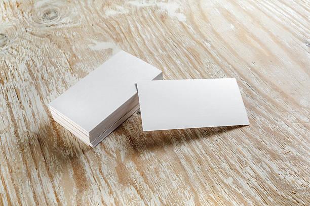 cartes de visite - business card mock up photos et images de collection