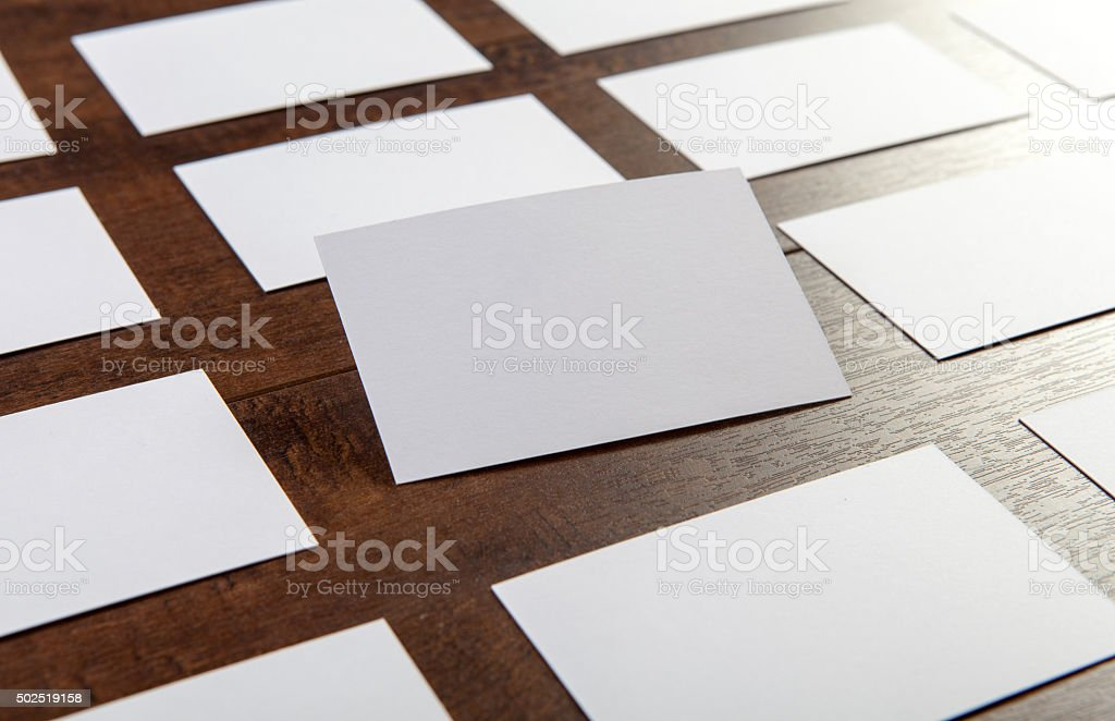 Business cards stock photo
