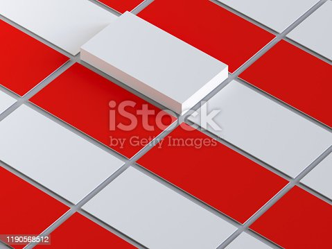 1144802544 istock photo Business cards red and white identity 1190568512