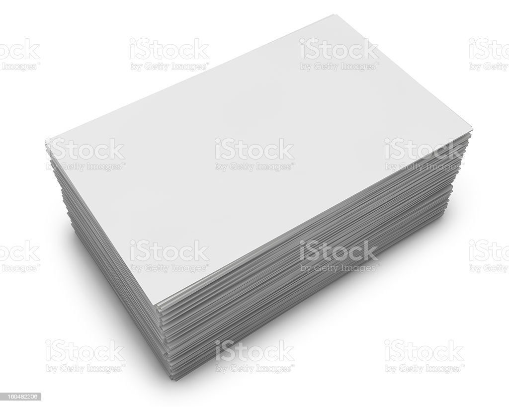 stack of business cards