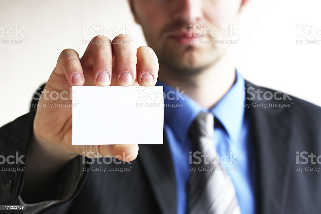 Business card,white royalty-free stock photo