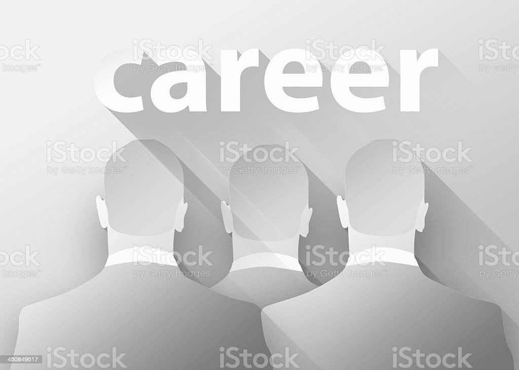 Business career 3d illustration flat design royalty-free stock photo