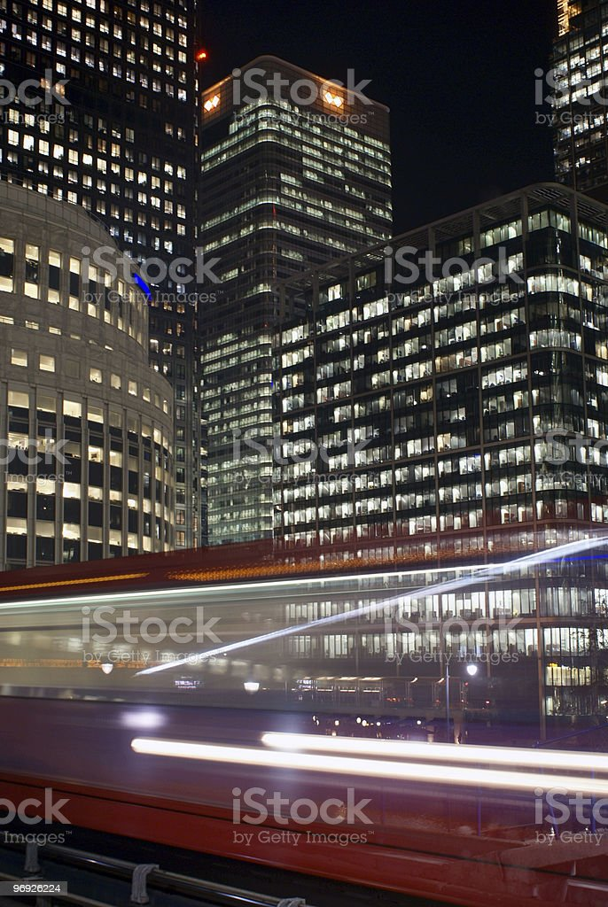 Business Centre in night royalty-free stock photo