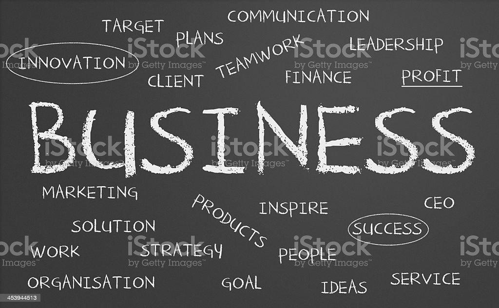 Business chalkboard stock photo