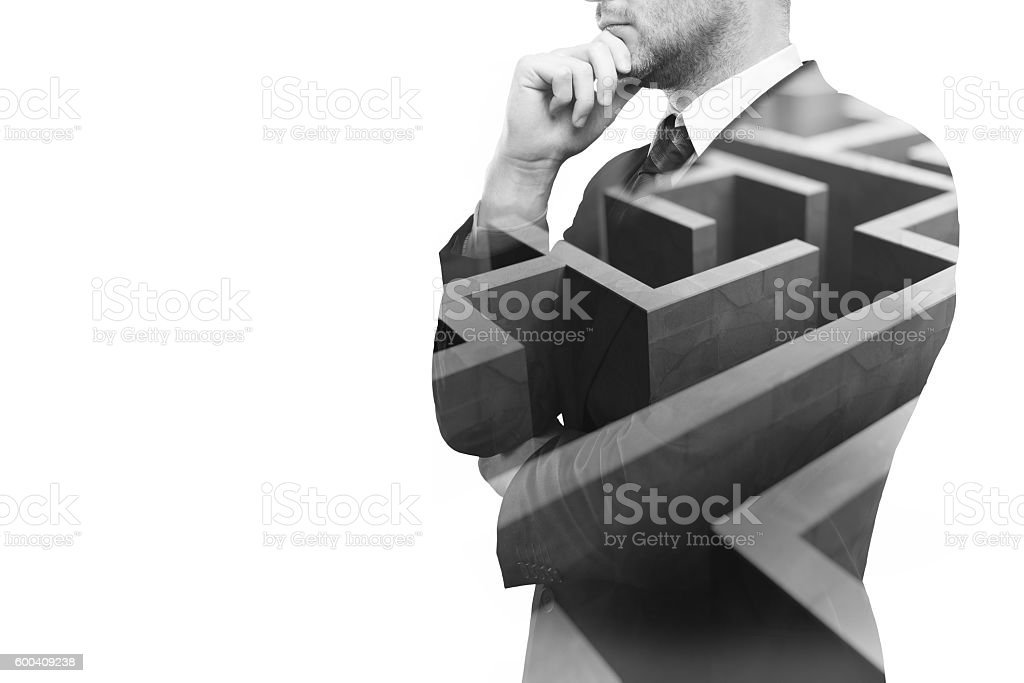 Business challenge stock photo
