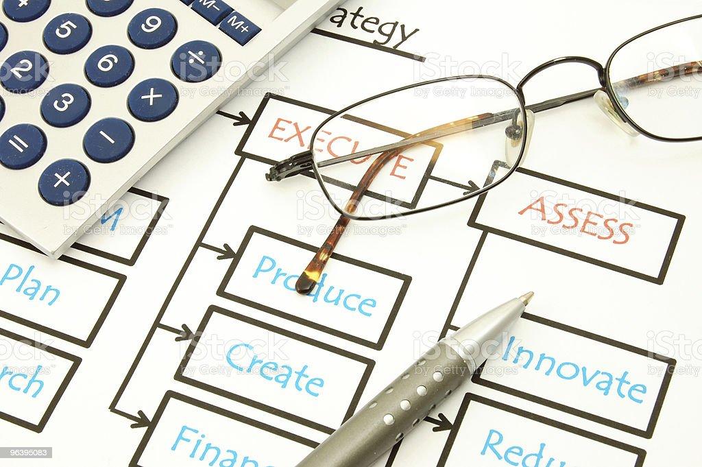 ビジネスチャートとペン - インフォグラフィックのロイヤリティフリーストックフォト
