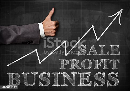 istock Business chart / Blackboard concept (Click for more) 494611112